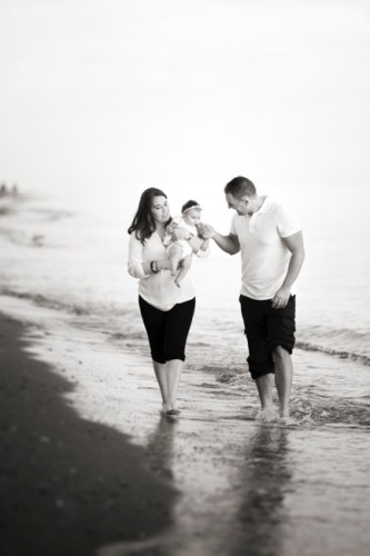 reportaje de familia en la playa