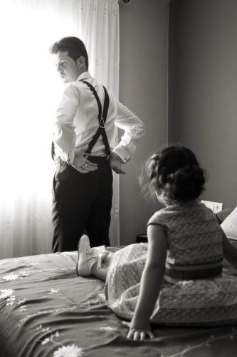 fotografía boda novio e hija