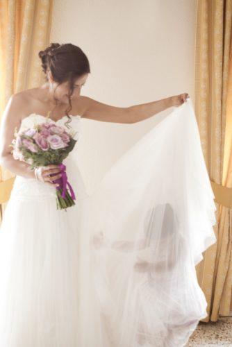 foto boda novia e hija