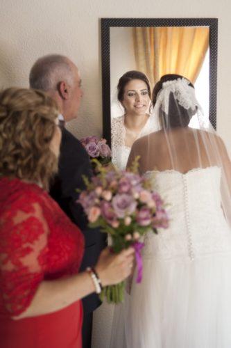 foto boda novia familia