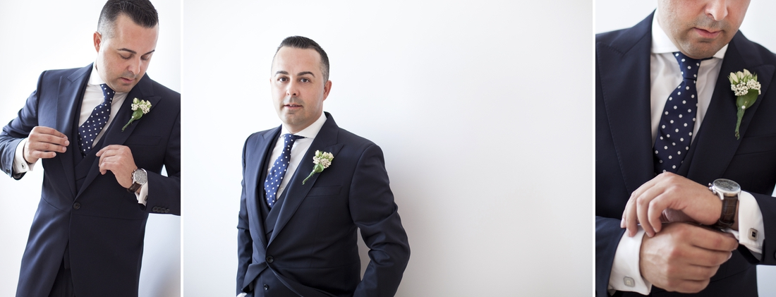 album de fotos de reportaje de boda preparativos en casa del novio