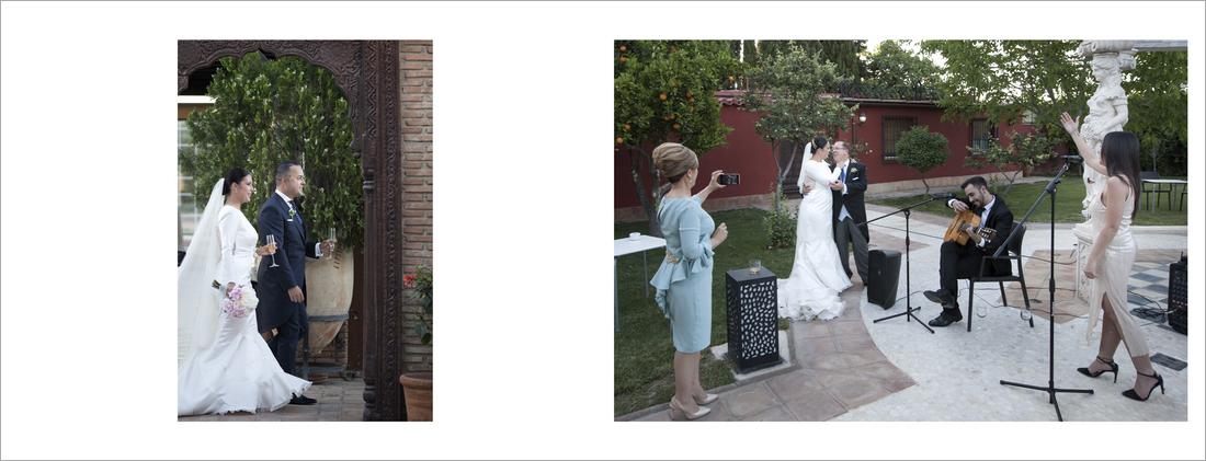 album de fotos de reportaje de boda ceremonia civil restaurante La Finca Granada