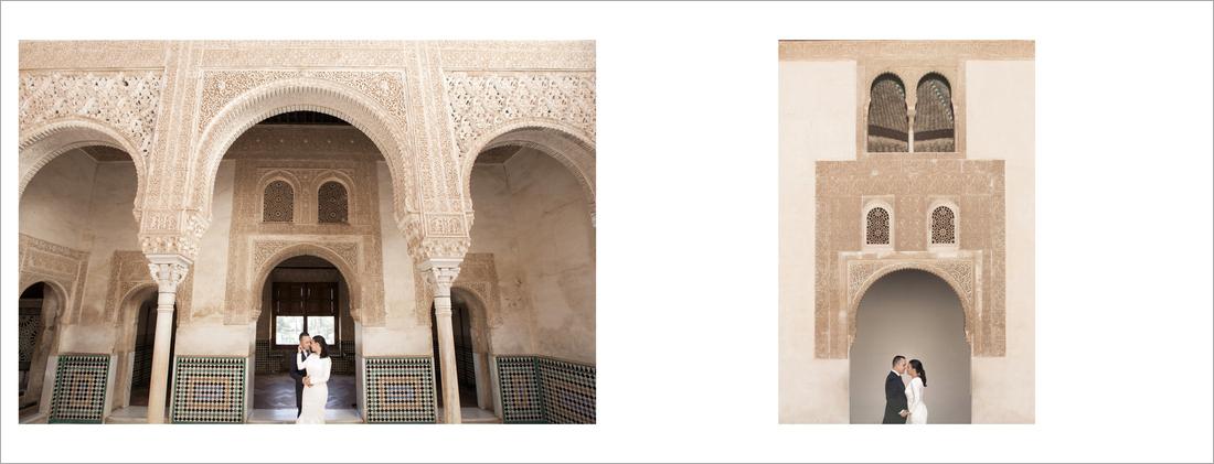album de fotos de reportaje de boda Alhambra Granada
