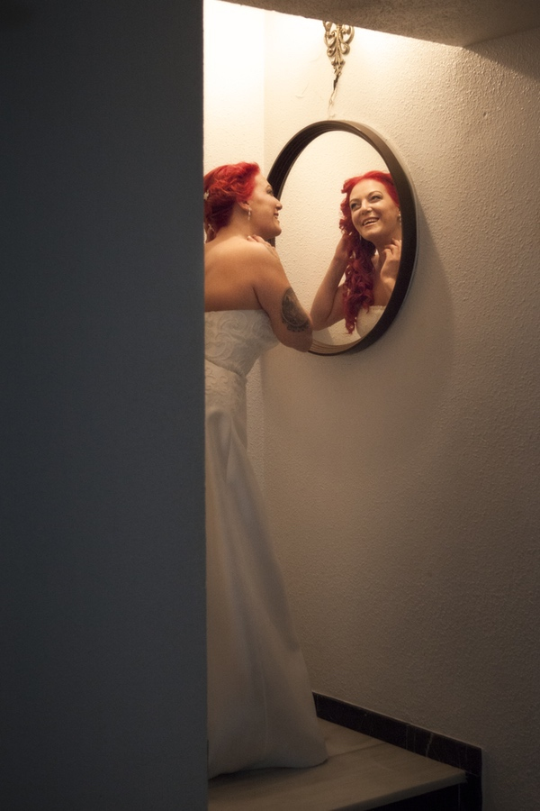 foto de boda. Preparativos novia