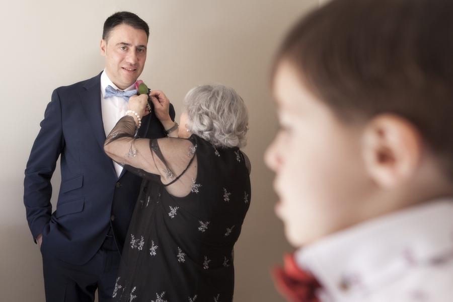 fotos de boda de Adrián. Preparativos
