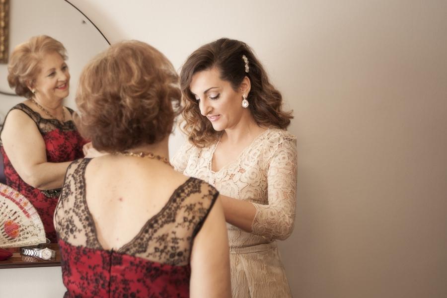 fotos de boda de Sofía. Preparativos
