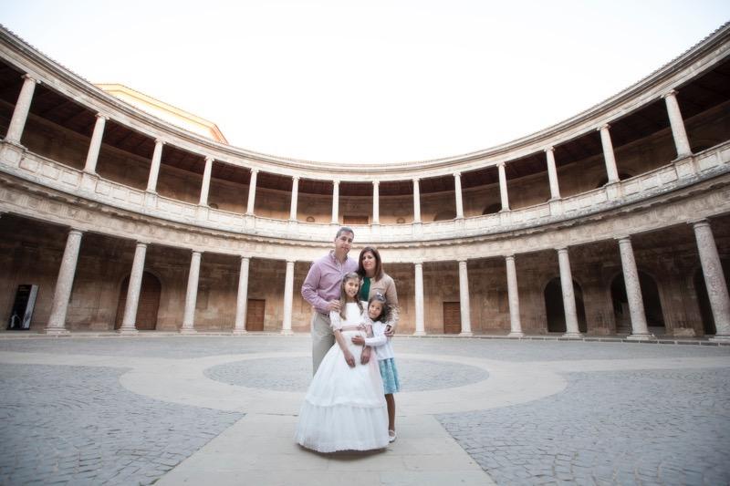 fotos comunión familia Alhambra