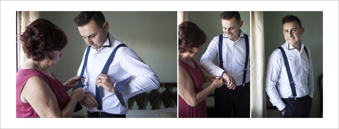album boda. Preparativos en casa del novio