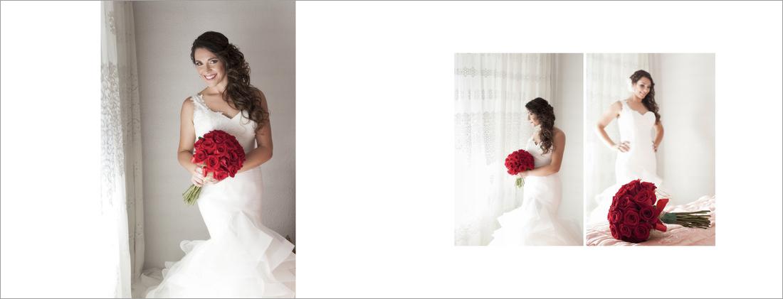 Preparativos casa novia. Album boda
