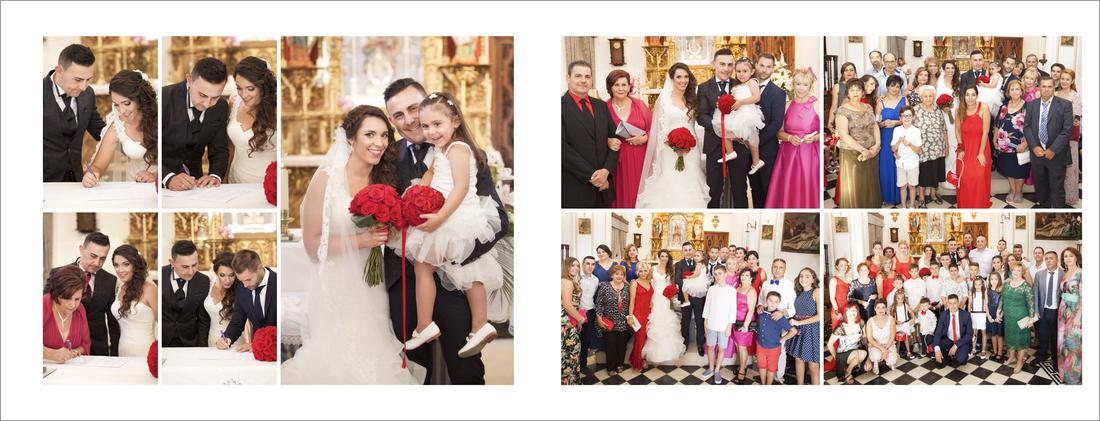 album de boda. Iglesia