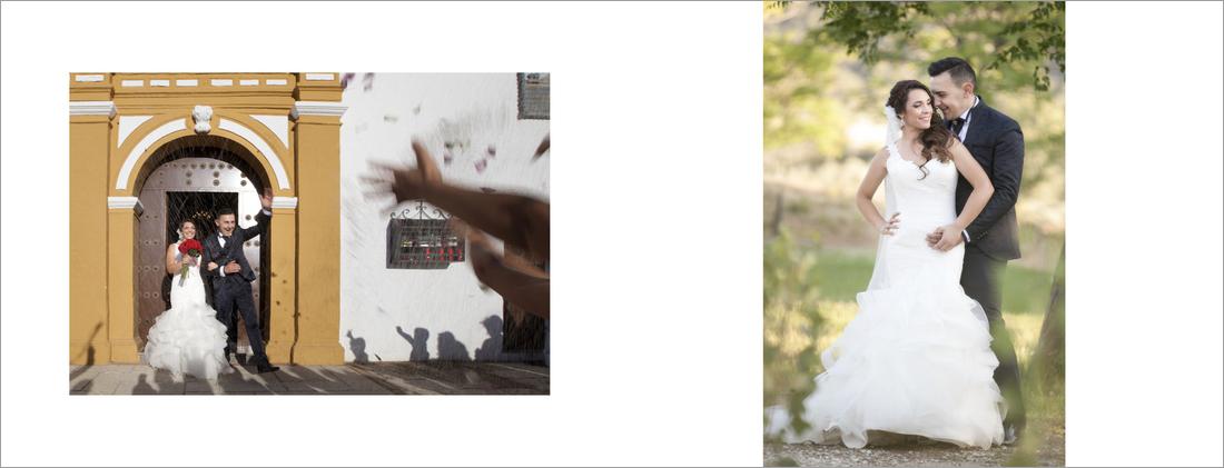 reportaje exterior. album boda