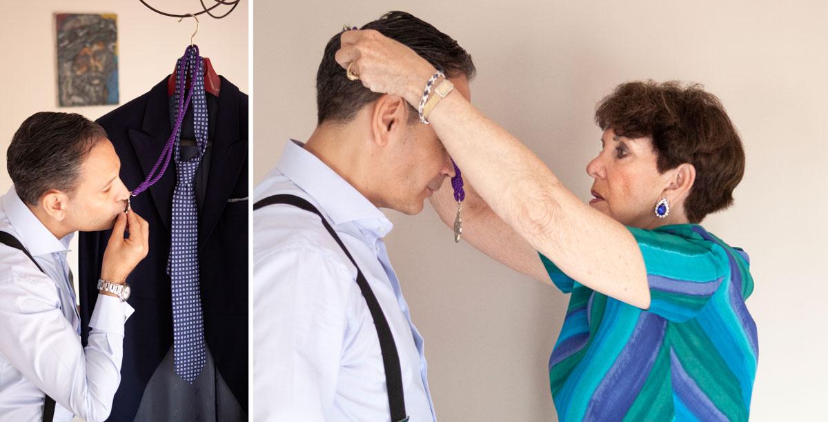 fotos de boda. Preparativos de novio.