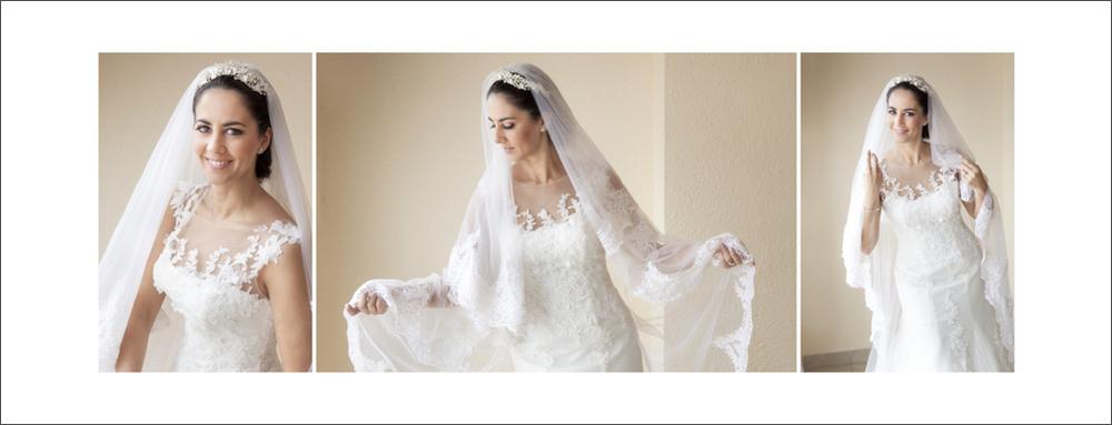 album de boda. preparativos casa de novia