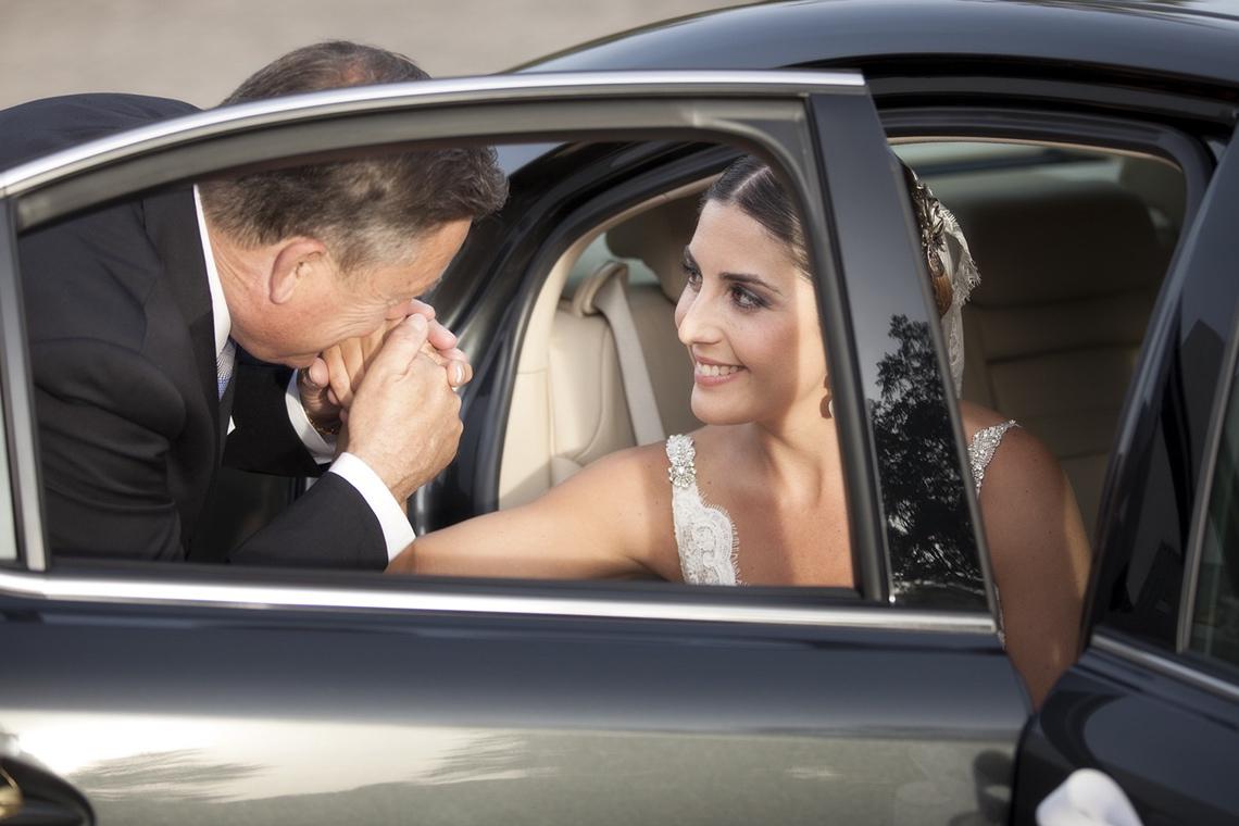 boda granada. Novia coche